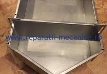 Crinta inox alimentar AISI 304, cu placa de volum, 500x750x17 mm, 60 L