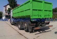 Container deseuri menajere, gunoi, volum 18 mc, standard, dim pe ext 6150 x 2550 x 1700 mm