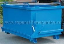 Container cu fund basculant pentru deseuri 1300x1000x1000
