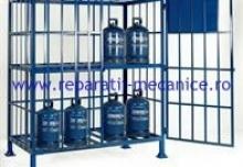Spatiu de depozitare recipienti sub presiune securizat - 1600x800x1600