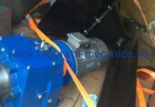 Snec echipat completcu motor, reductor, cuplaj cu bolturi, rulmentu, bucsa de teflon,  productie de