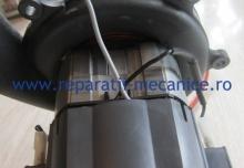 Reparatie motor electric cu turbina, schimbat colector, bobinaj