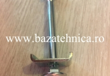 Surub de gard M8x100 mm, zincat, cu saiba dreptung si piulita